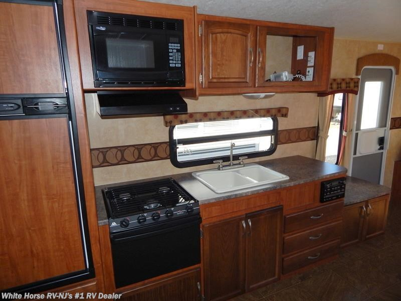 2011 jayco rv jay feather select x26p 2 bedroom king bed for Kitchen cabinets 08094