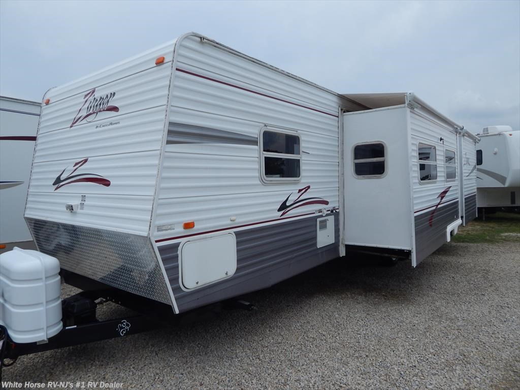 2007 crossroads rv zinger 32sb two bedroom double slideout for sale in williamstown nj 08094 for Two bedroom travel trailers for sale