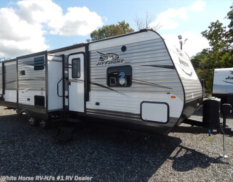 J11007 2017 jayco jay flight 29bhds 2 bedroom double slideout for sale in williamstown nj for Two bedroom travel trailers for sale
