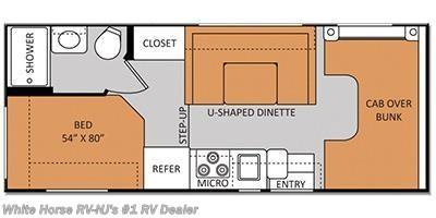 2014 Thor Motor Coach Freedom Elite  22E Corner Bed/Bath, U-shaped Dinette