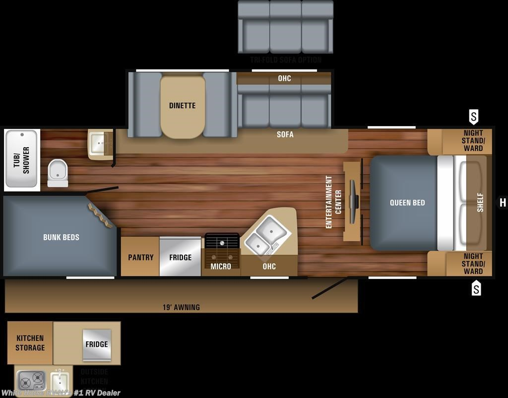 J11534 - 2018 Jayco Jay Feather 25BH Two Bedroom Sofa/Dinette ...