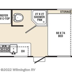 2016 Coachmen Clipper Ultra-Lite 17RD floorplan image