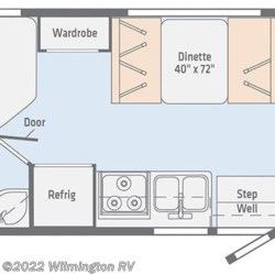 2019 Winnebago Outlook 22E floorplan image