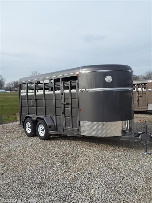 2018 CornPro 16' Stock Trailer