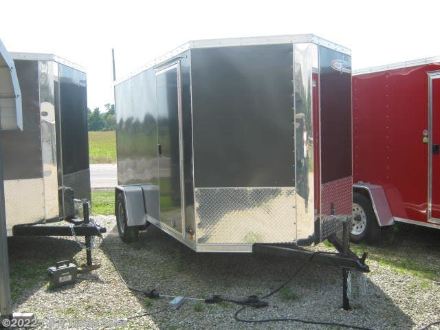 2019 Cross Trailers 6x12 with ramp door and v-nose