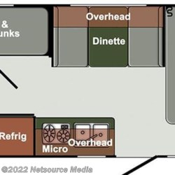 2018 Gulf Stream StreamLite Ultra Lite 18RBD floorplan image