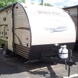 2016 Forest River Wolf Pup 17CJ  - Travel Trailer New  in Whitesboro NY For Sale by Boulevard Trailers, Inc. call 315-736-5851 today for more info.
