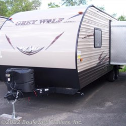 2016 Forest River Cherokee Grey Wolf 23BD  - Travel Trailer New  in Whitesboro NY For Sale by Boulevard Trailers, Inc. call 315-736-5851 today for more info.
