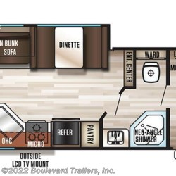 2018 Forest River Grey Wolf 26RL floorplan image