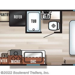 2018 Forest River Grey Wolf 20RDSE floorplan image
