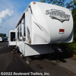 2011 Forest River Sandpiper 345RET  - Fifth Wheel Used  in Whitesboro NY For Sale by Boulevard Trailers, Inc. call 315-217-5542 today for more info.