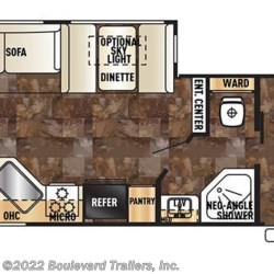 2016 Forest River Cherokee 264L floorplan image