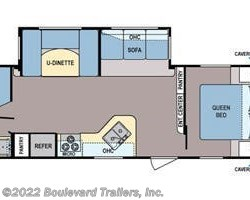 2013 Coleman Expedition CTS262BH floorplan image