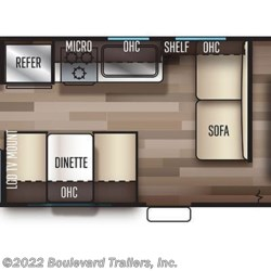 2019 Forest River Cherokee Grey Wolf 26DJSE floorplan image