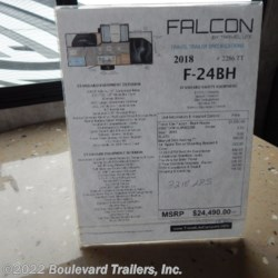 Boulevard Trailers, Inc. 2018 Falcon 24BH  Travel Trailer by Travel Lite | Whitesboro, New York