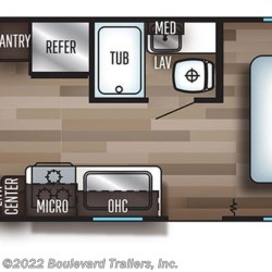 2019 Forest River Cherokee Grey Wolf 20RDSE floorplan image