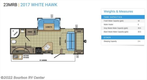2017 Jayco White Hawk  23MRB