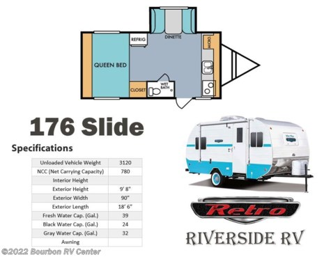 2017 Riverside RV Retro  176 Slide