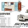 2017 Venture RV Sonic Lite SL169VBH  - Travel Trailer New  in Bourbon MO For Sale by Bourbon RV Center call 800-343-5795 today for more info.