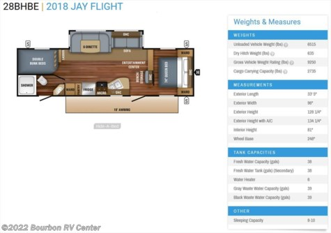New 2018 Jayco Jay Flight 28BHBE For Sale by Bourbon RV Center available in Bourbon, Missouri