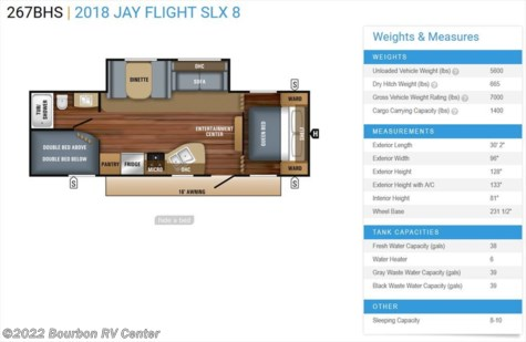 New 2018 Jayco Jay Flight SLX 267BHS For Sale by Bourbon RV Center available in Bourbon, Missouri