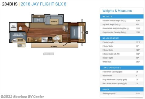 New 2018 Jayco Jay Flight SLX 284BHS For Sale by Bourbon RV Center available in Bourbon, Missouri