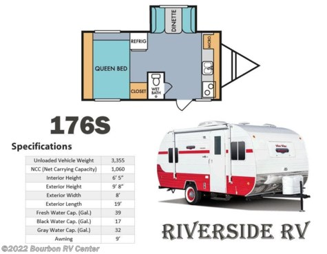 New 2019 Riverside RV Retro 176S For Sale by Bourbon RV Center available in Bourbon, Missouri