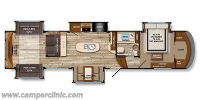 2016 Grand Design Solitude 375RE floorplan image
