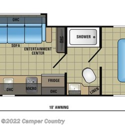 2018 Jayco Jay Feather 7 23RD floorplan image