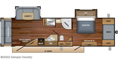 2018 Jayco White Hawk 30RLS floorplan image