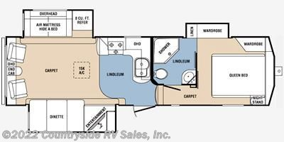 2013 Prime Time Crusader 290RLT floorplan image