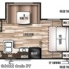 2016 Forest River Wildwood X-Lite 232RBXL floorplan image