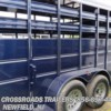 2016 Delta 500 Series 16' Bumper Pull Stock Trailer 7' Tall  - Horse Trailer New  in Newfield NJ For Sale by Crossroads Trailer Sales, Inc. call 800-545-4497 today for more info.