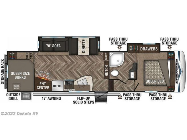 Floorplan of 2020 K-Z Sportsmen 292BHK