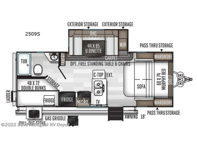 2021 Rockwood Mini Lite 2509S by Forest River from Dave Arbogast RV Depot in Troy, Ohio