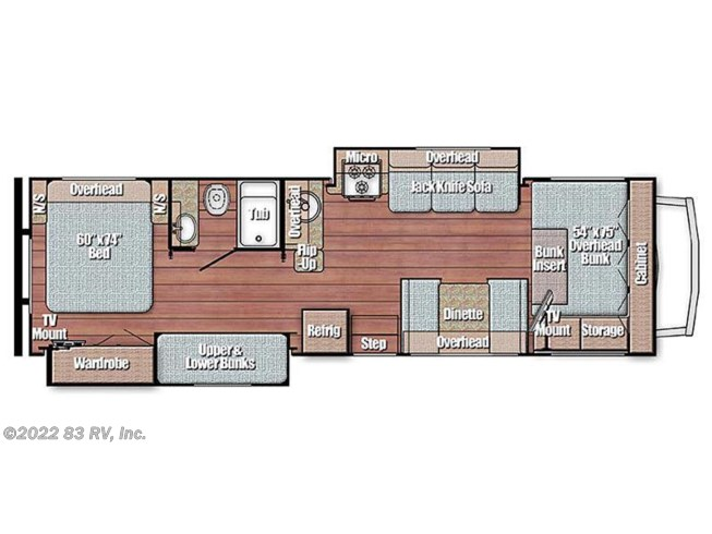 2016 Gulf Stream Conquest 63111 floorplan image