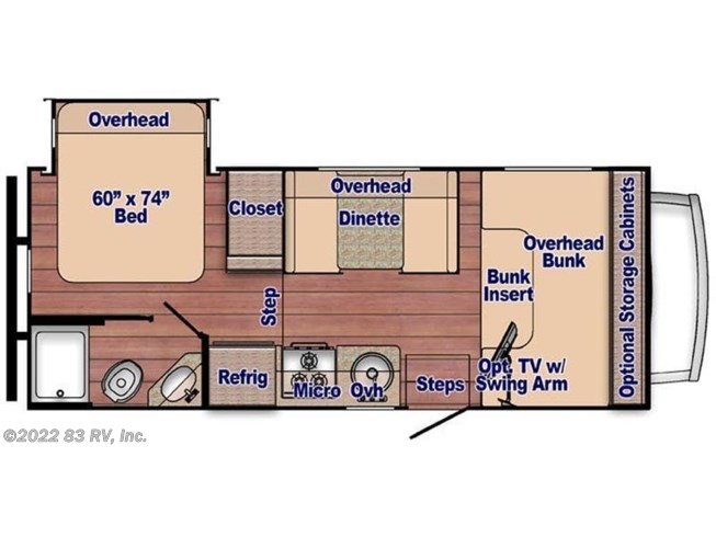 Floorplan of 2021 Gulf Stream Conquest 6220LE
