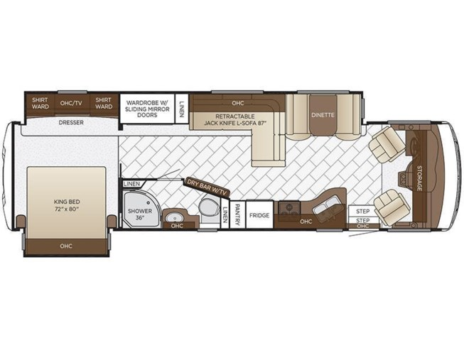 2018 Newmar Bay Star 3401 floorplan image