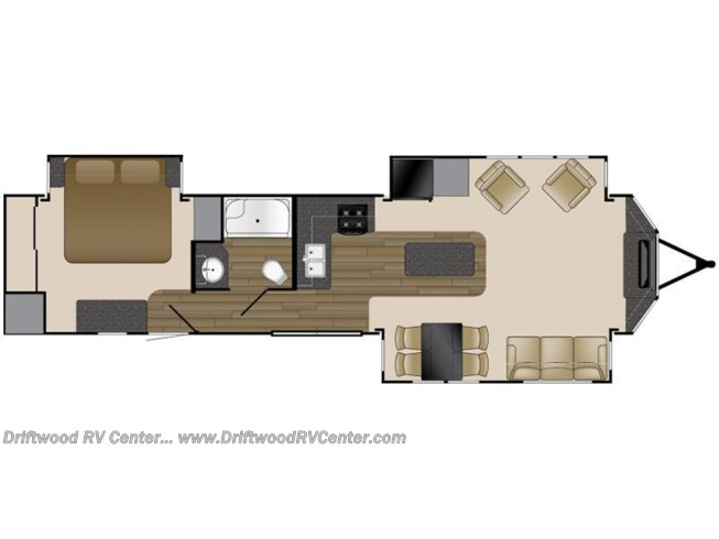 2017 Heartland RV Resort RT 340FE floorplan image