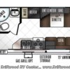 2018 Forest River Rockwood Roo 19 floorplan image