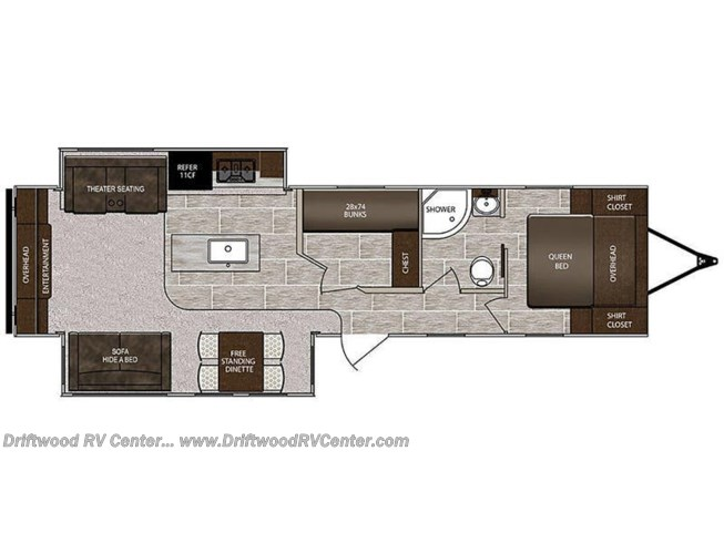 2019 Prime Time LaCrosse Luxury Lite 3370MB floorplan image