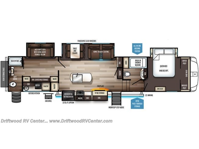 2020 Forest River Sabre 38DBQ floorplan image