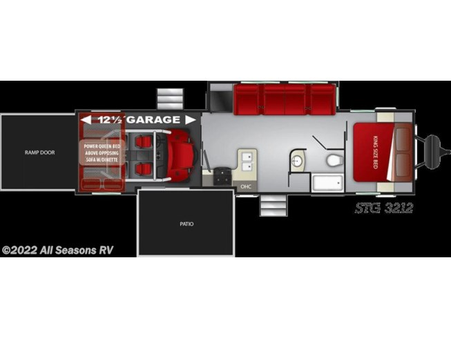 2020 Cruiser RV Stryker STG-3212 - New Toy Hauler For Sale by All Seasons RV in Muskegon, Michigan