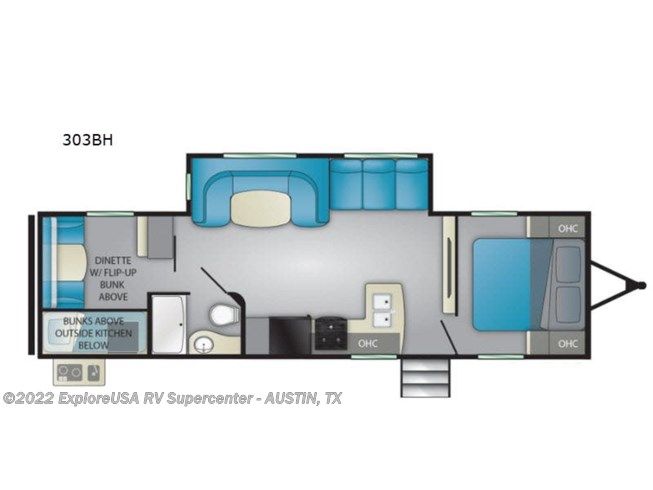 2020 Heartland Prowler 303BH - New Travel Trailer For Sale by ExploreUSA RV Supercenter - KYLE, TX in Kyle, Texas features Slideout