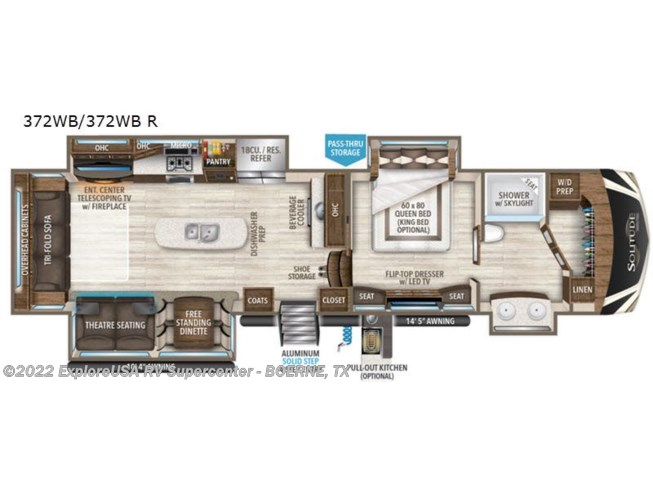 2020 Grand Design Solitude 372WB R - New Fifth Wheel For Sale by ExploreUSA RV Supercenter - BOERNE, TX in Boerne, Texas features Slideout