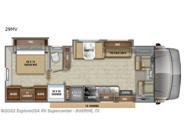 2020 Jayco Greyhawk 29MV - New Class C For Sale by ExploreUSA RV Supercenter - BOERNE, TX in Boerne, Texas features Slideout