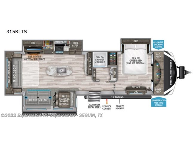 2020 Grand Design Reflection 315RLTS - New Travel Trailer For Sale by ExploreUSA RV Supercenter - SEGUIN, TX in Seguin, Texas features Slideout