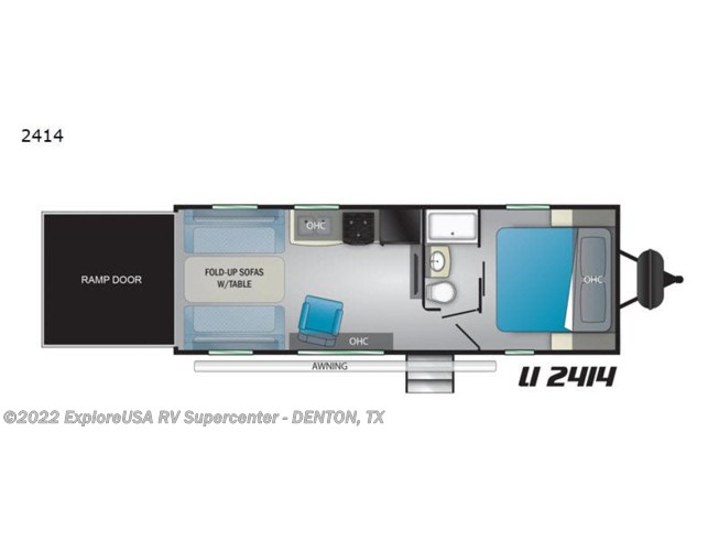 2020 Heartland Lithium 2414 - New Toy Hauler For Sale by ExploreUSA RV Supercenter - DENTON, TX in Denton, Texas