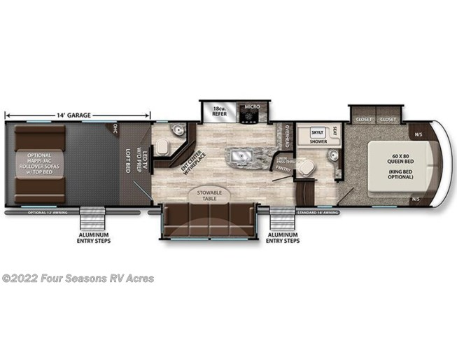 2017 Grand Design Momentum 388M floorplan image
