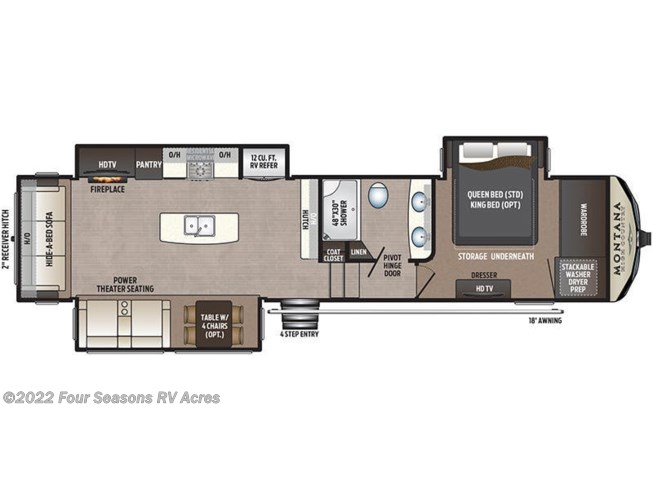 2019 Keystone Montana High Country 330RL floorplan image
